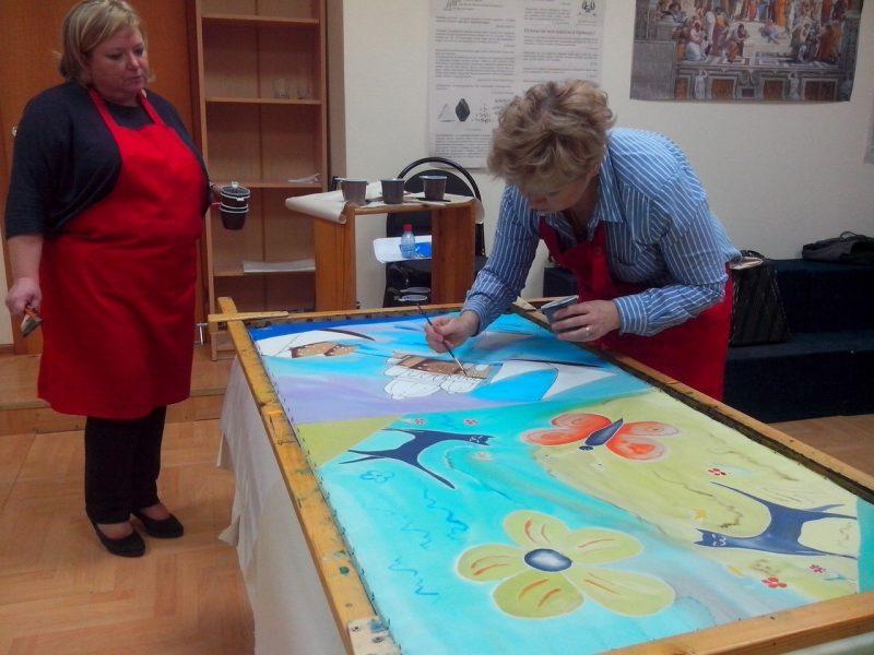 Мастер-класс «Картина на шёлке» – события на сайте «Московские Сезоны»