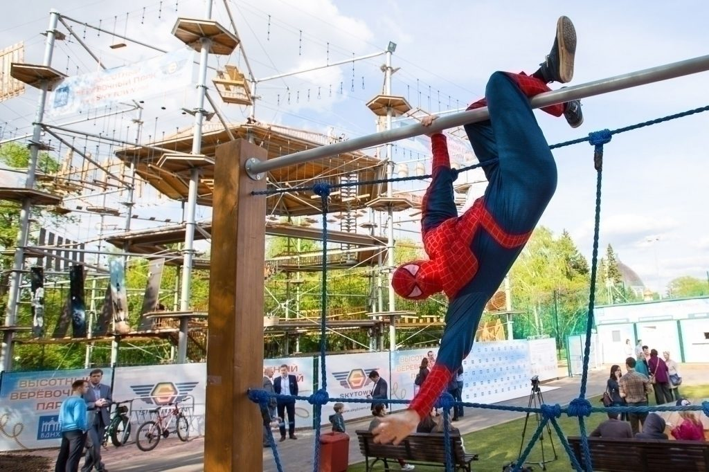 The biggest adventure rope park Sky Town | Events | Moscow Seasons