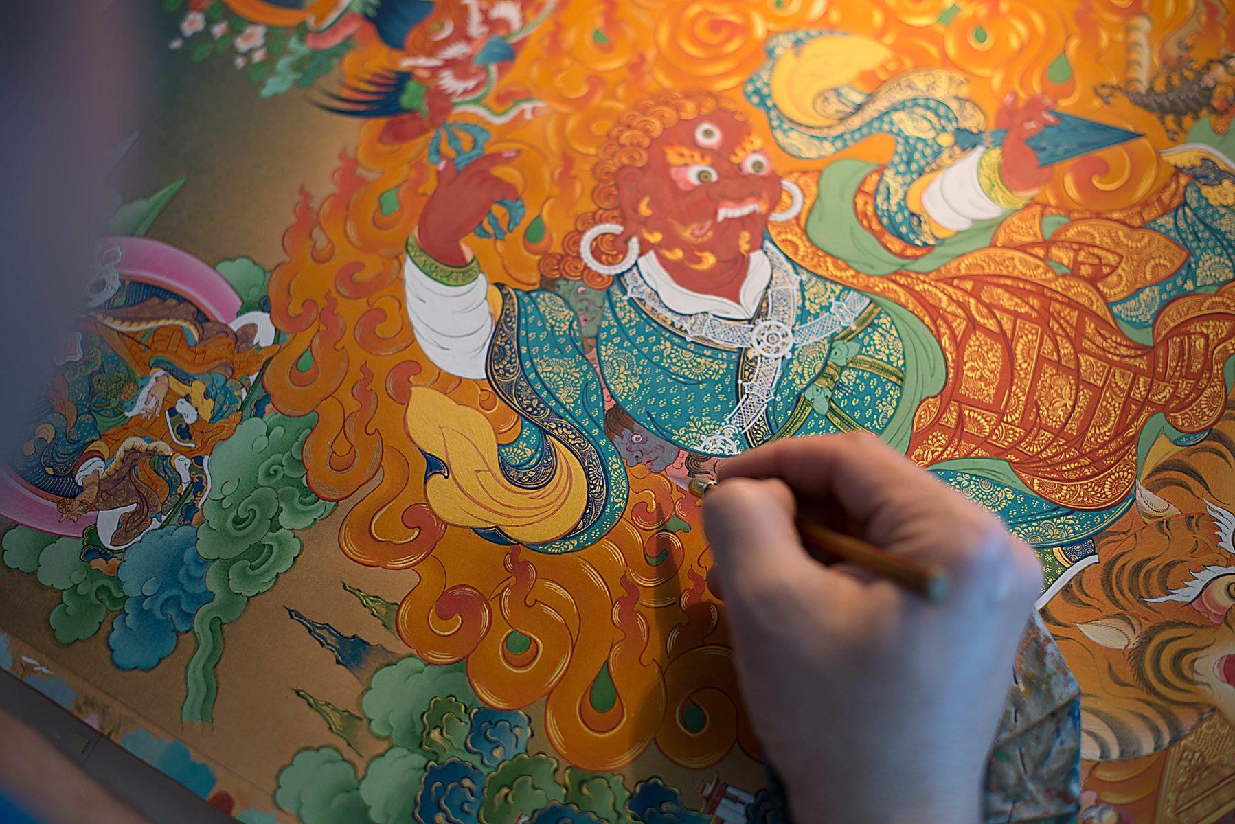 Выставка «Живопись танка. Медитация и философия Востока» в галерее искусств Зураба Церетели – события на сайте «Московские Сезоны»